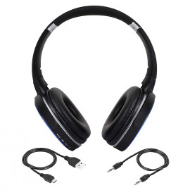 VTI Wireless Bluetooth Headphone,Headset and Earphone AZ-009 (Blue) <small>(Shipping Per: MK2.00)</small>