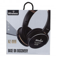 VTI Wireless Bluetooth Headphone,Headset and Earphone AZ-009 (Blue) <small>(Shipping Per: 5 %)</small>